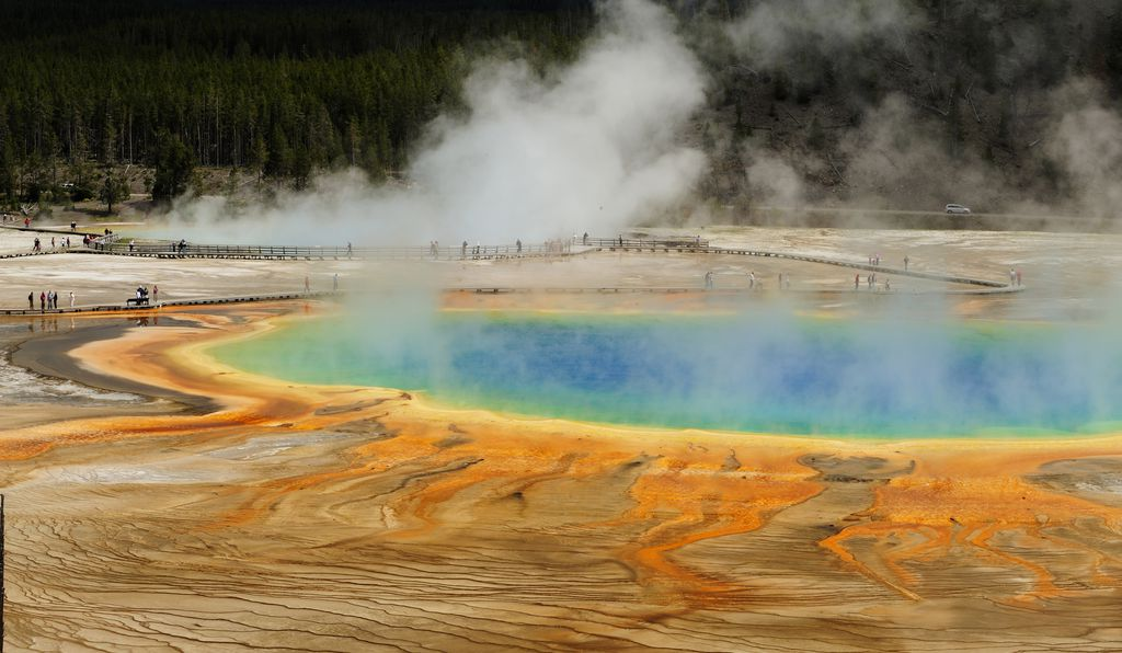 Giant Prismatic Spring-Yellowstone National Park Wyoming